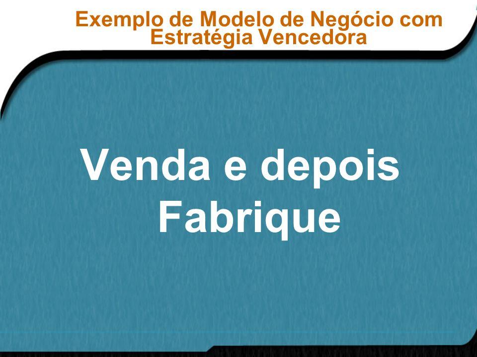 Exemplo de Modelo de Negócio com Estratégia Vencedora Venda e depois Fabrique