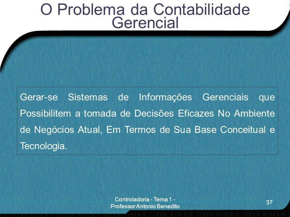 O Problema da Contabilidade Gerencial Gerar-se Sistemas de Informações Gerenciais que Possibilitem a tomada de Decisões Eficazes No Ambiente de Negóci
