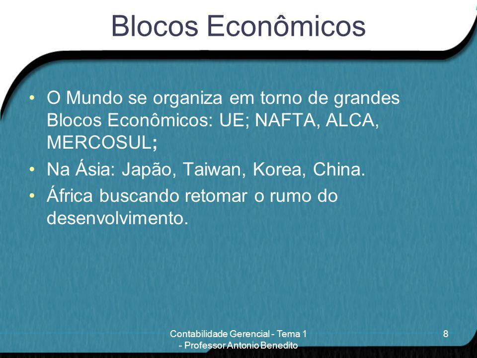 Blocos Econômicos O Mundo se organiza em torno de grandes Blocos Econômicos: UE; NAFTA, ALCA, MERCOSUL; Na Ásia: Japão, Taiwan, Korea, China. África b