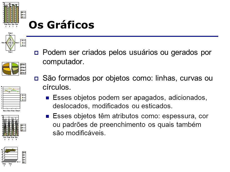 Os Gráficos São documentos modificáveis porque o seu formato contém informação estrutural.