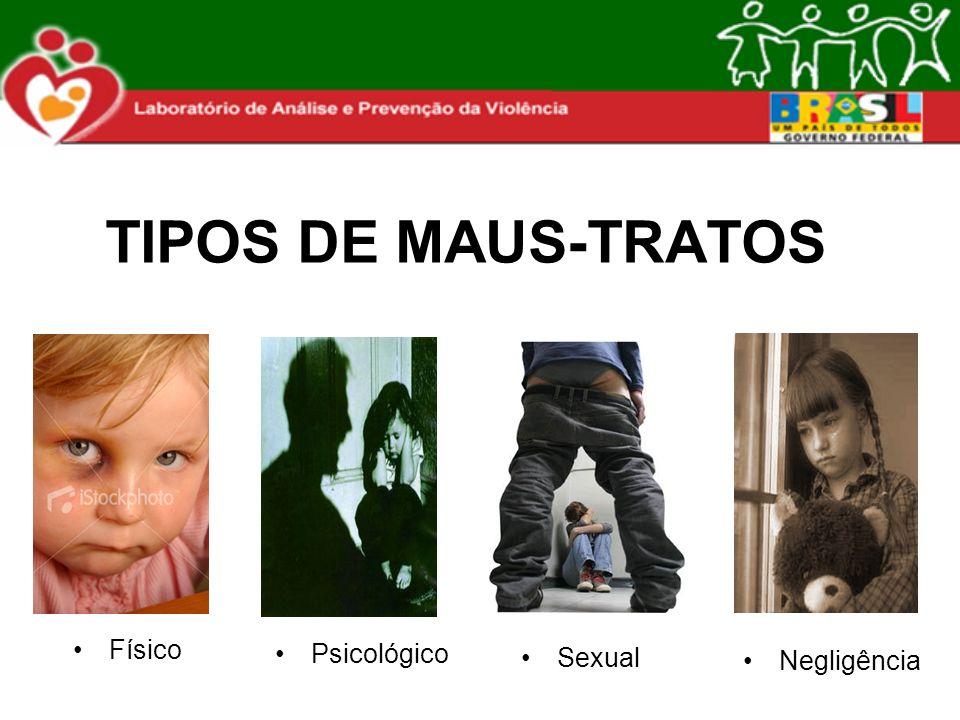 TIPOS DE MAUS-TRATOS Psicológico Sexual Negligência Físico
