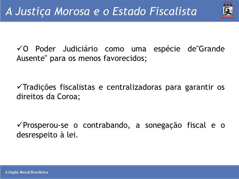 A Dupla Moral Brasileira A Justiça Morosa e o Estado Fiscalista O Poder Judiciário como uma espécie de