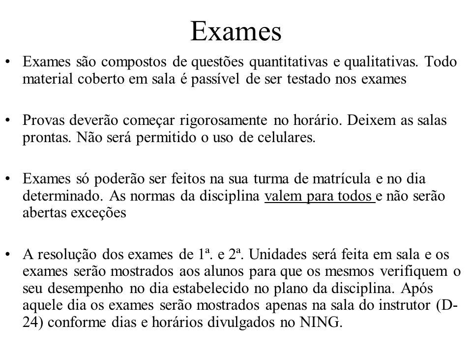 Exames – 2ª.