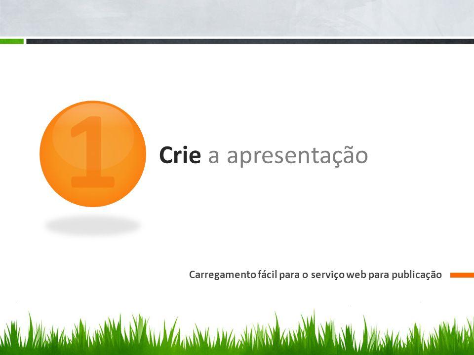 Crie a apresentação Carregamento fácil para o serviço web para publicação 1