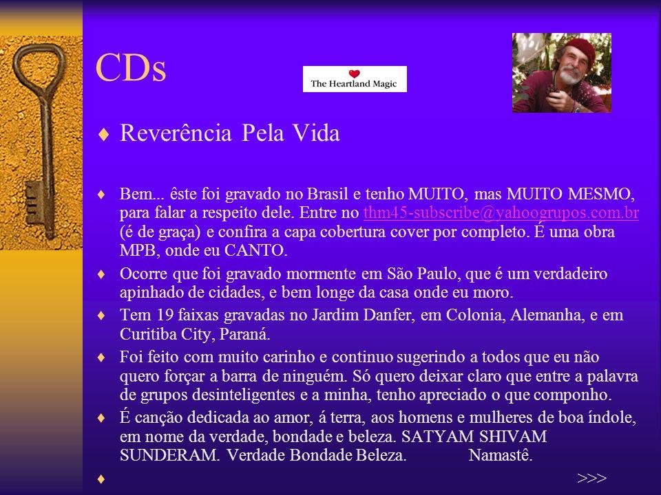 CDs Reverência Pela Vida Bem...