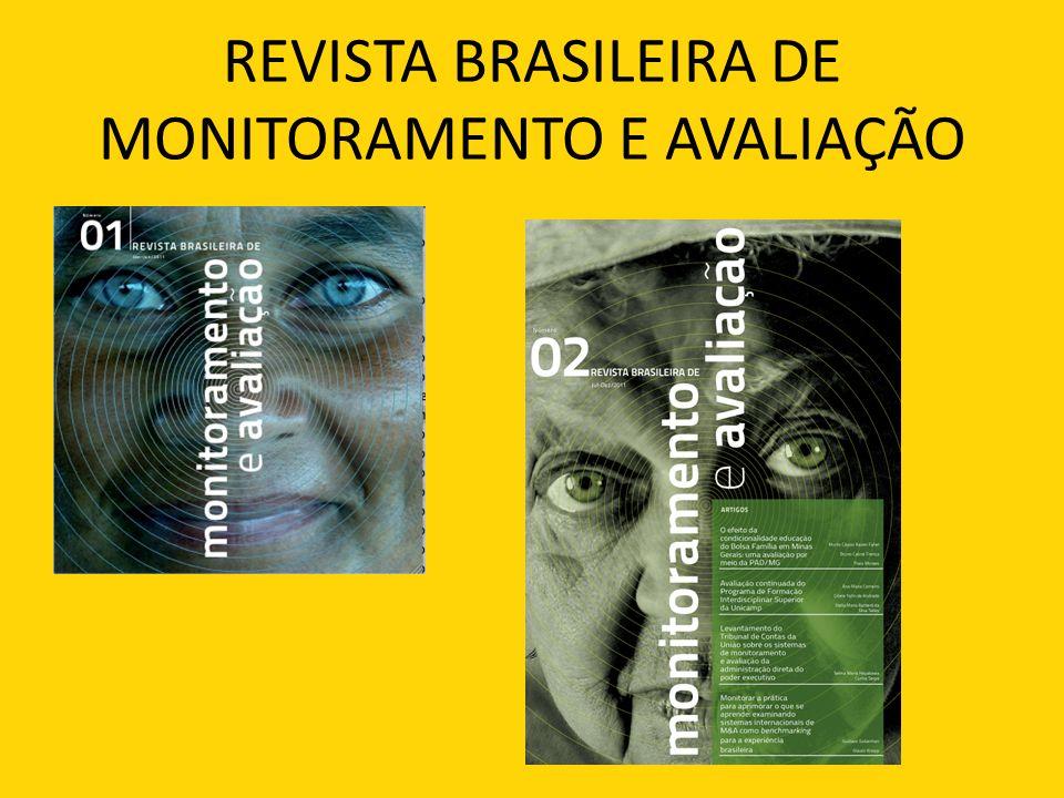 REVISTA BRASILEIRA DE MONITORAMENTO E AVALIAÇÃO