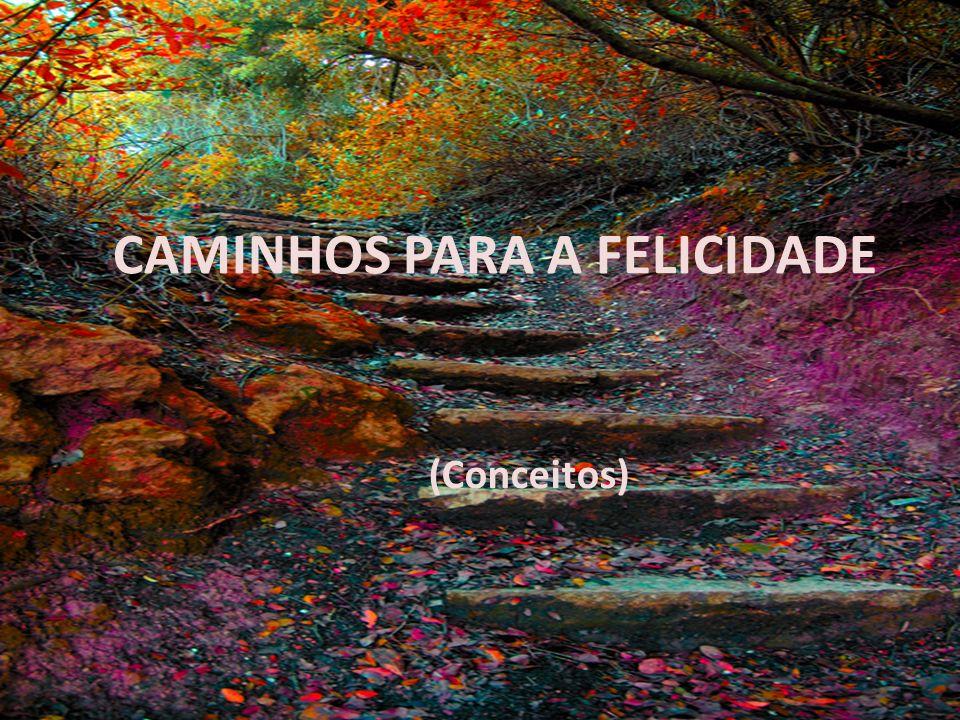 CAMINHOS PARA A FELICIDADE (Conceitos)