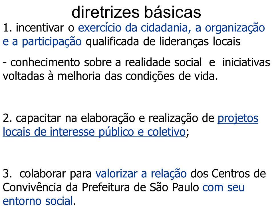 Projeto era-Ação Realizado em 2003 e 2004, com 24 cursos em 19 distritos de São Paulo (índices de exclusão social). Apoio: Ministério de Desenvolvimen