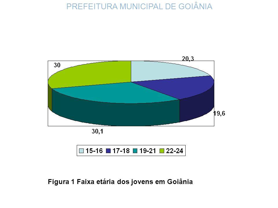 Figura 1 Faixa etária dos jovens em Goiânia PREFEITURA MUNICIPAL DE GOIÂNIA