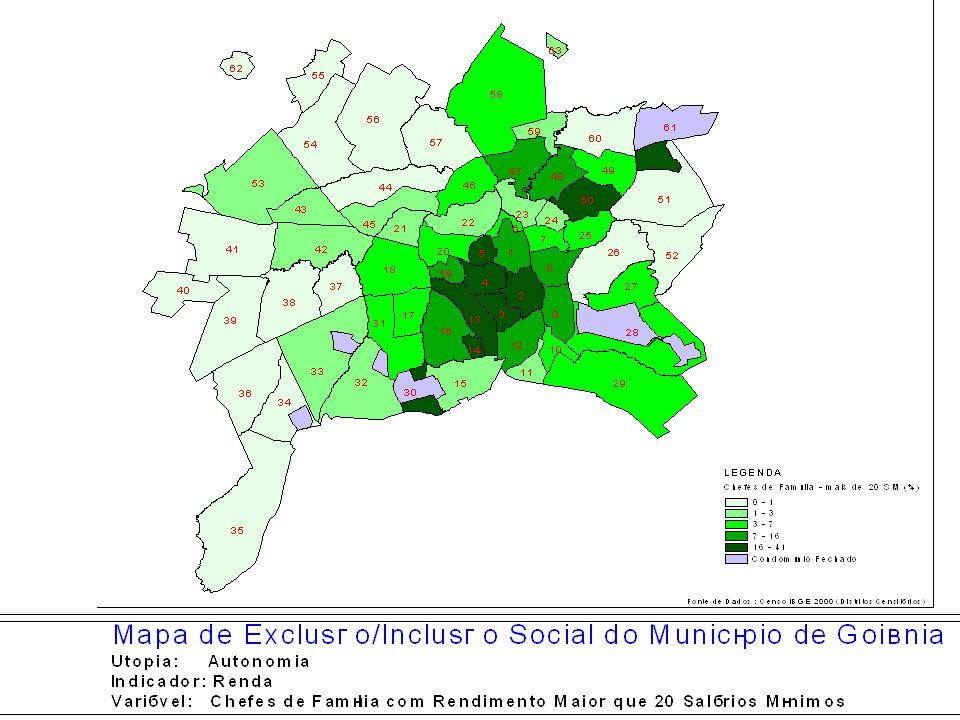 População Vulnerável Territórios SegregadosTotal (1)Nº de domicílios (1) População (2000)(2) 1.
