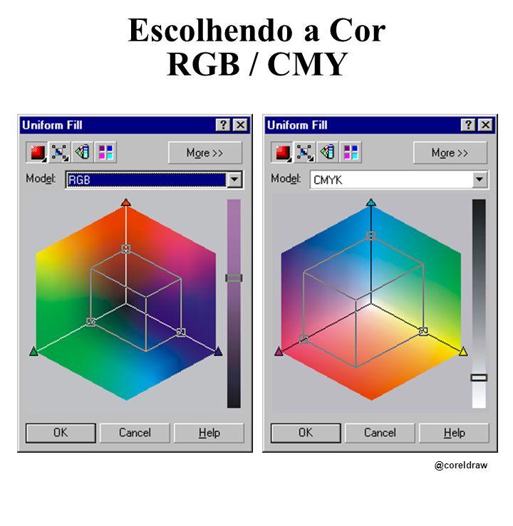 Escolhendo a Cor RGB / CMY @coreldraw