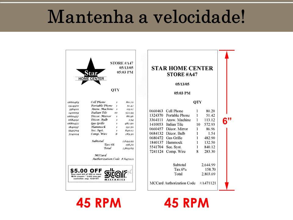 Mantenha a velocidade! 45 RPM