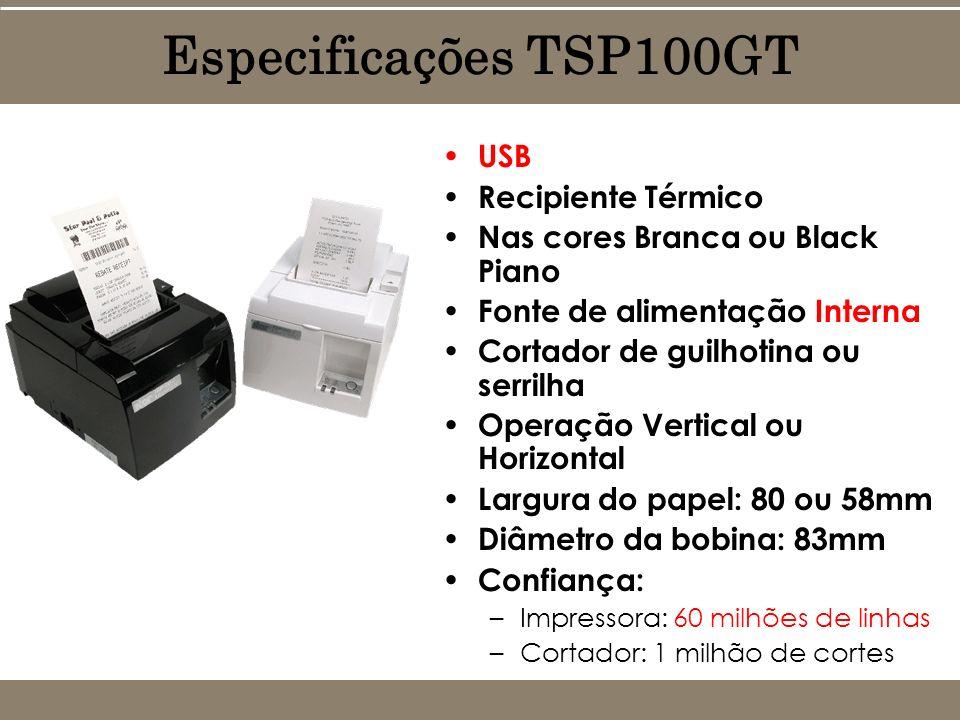USB Recipiente Térmico Nas cores Branca ou Black Piano Fonte de alimentação Interna Cortador de guilhotina ou serrilha Operação Vertical ou Horizontal