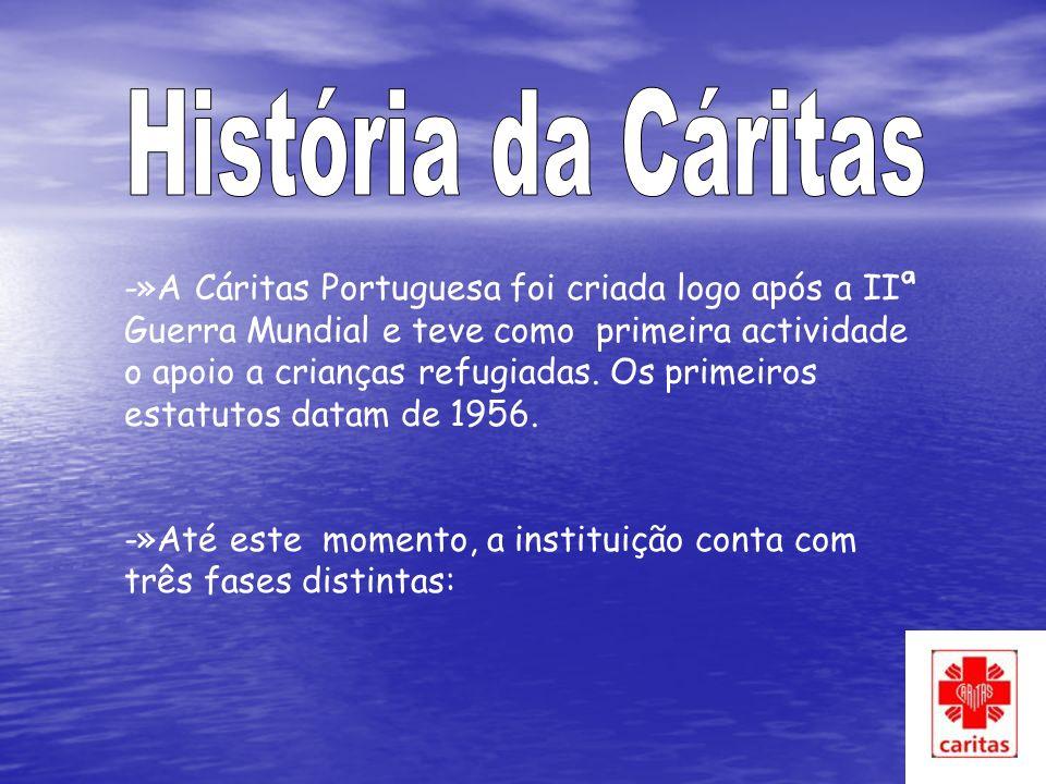 -»A Cáritas Portuguesa foi criada logo após a IIª Guerra Mundial e teve como primeira actividade o apoio a crianças refugiadas.