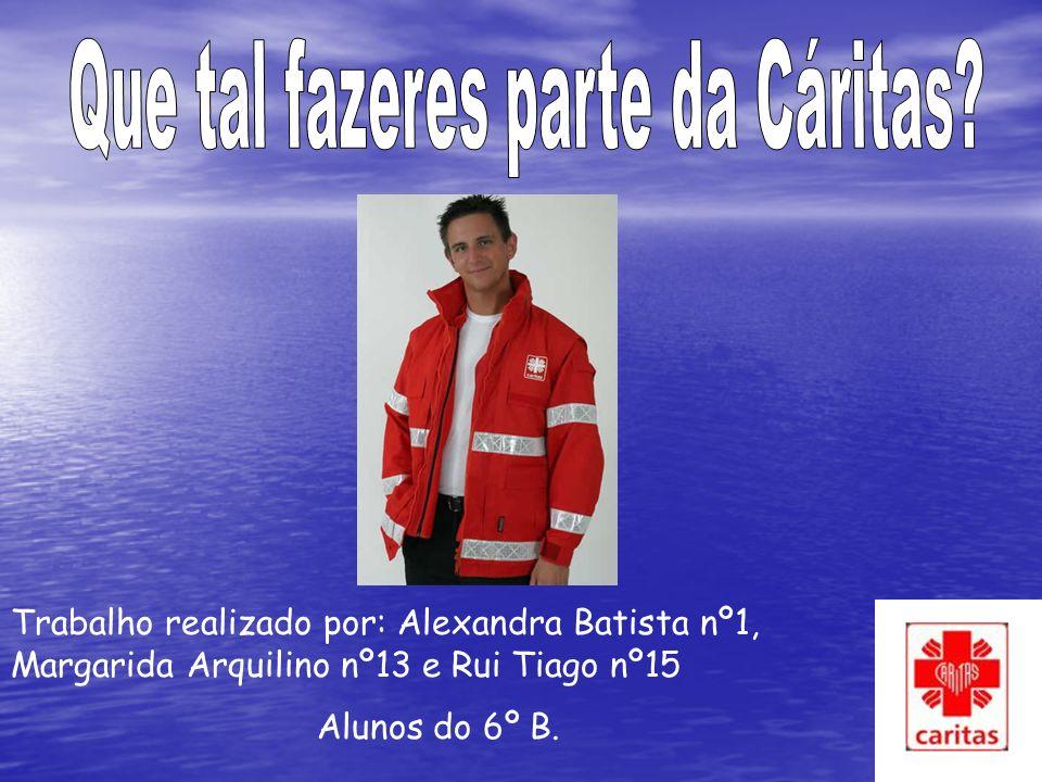 Trabalho realizado por: Alexandra Batista nº1, Margarida Arquilino nº13 e Rui Tiago nº15 Alunos do 6º B.