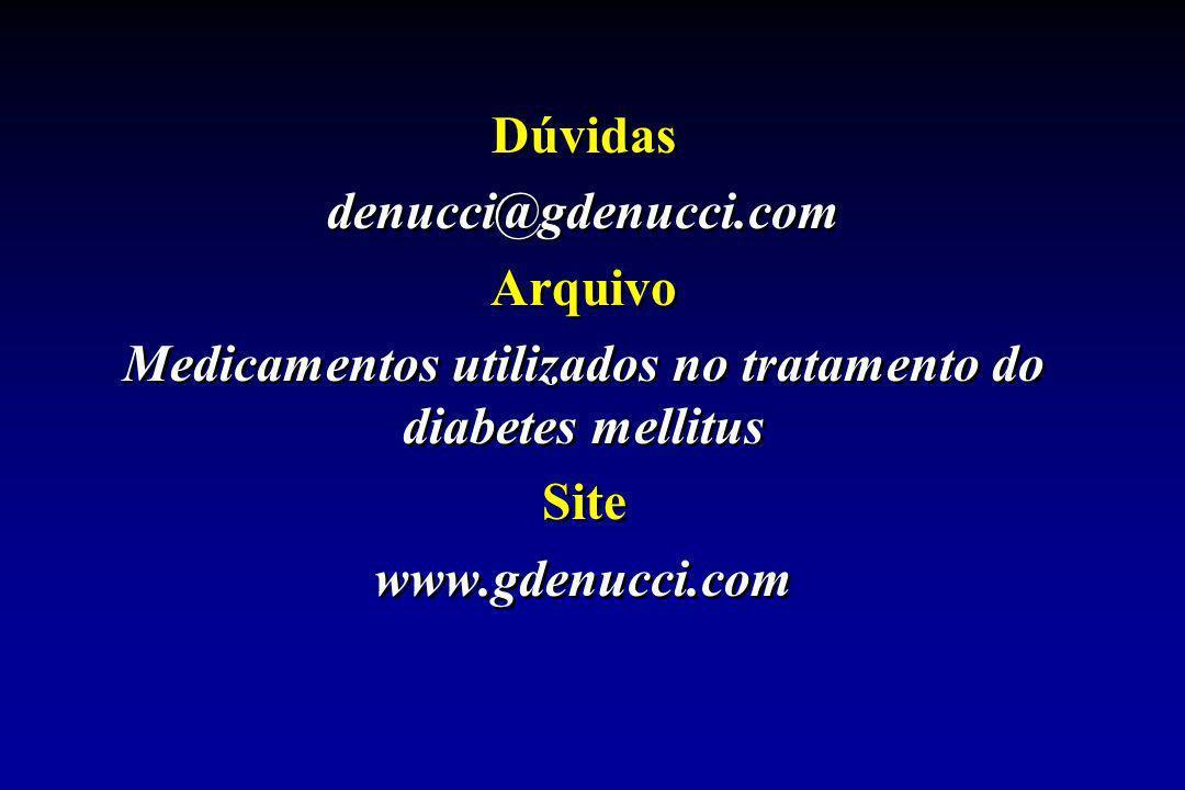 Dúvidas denucci@gdenucci.com Arquivo Medicamentos utilizados no tratamento do diabetes mellitus Site www.gdenucci.com Dúvidas denucci@gdenucci.com Arq