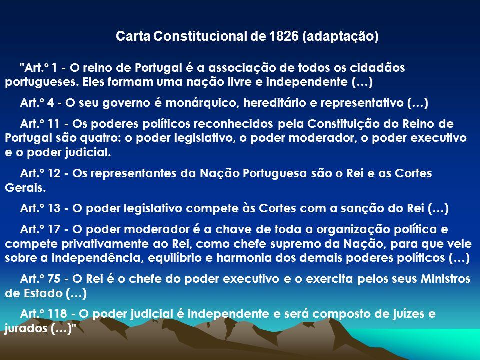 Carta Constitucional de 1826 (adaptação)