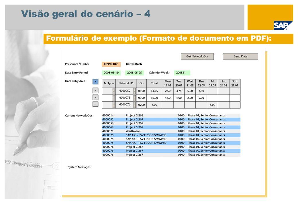 Visão geral do cenário – 4 Formulário de exemplo (Formato de documento em PDF):