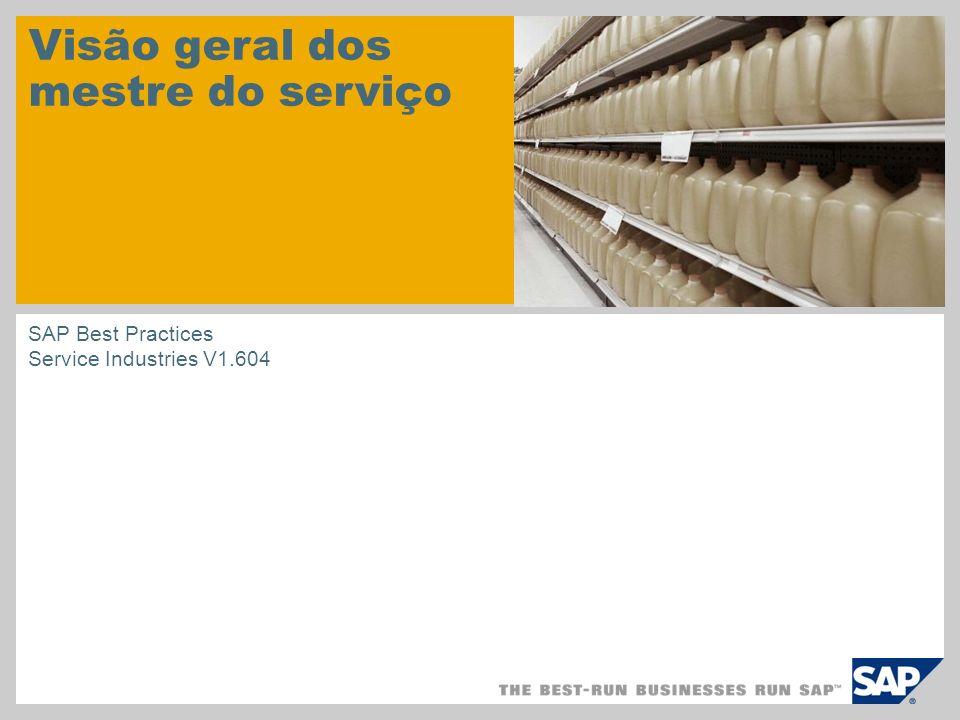 Visão geral dos mestre do serviço SAP Best Practices Service Industries V1.604