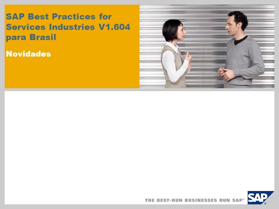 SAP Best Practices for Services Industries V1.604 para Brasil Novidades