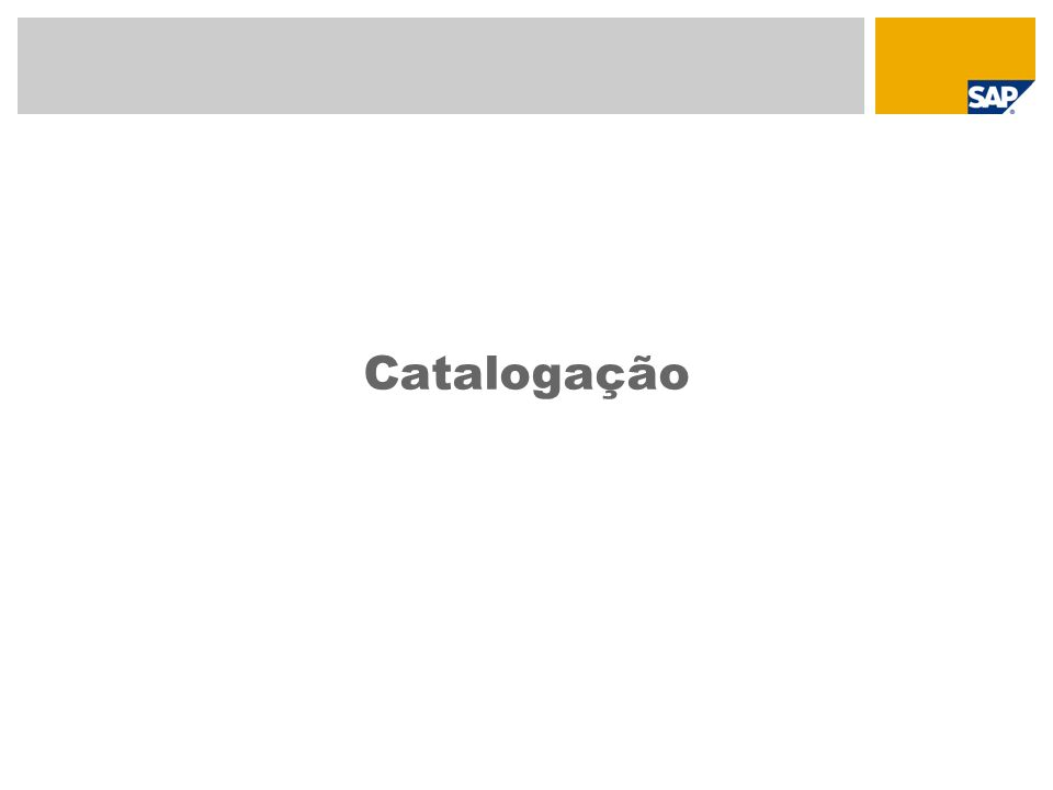 Catalogação