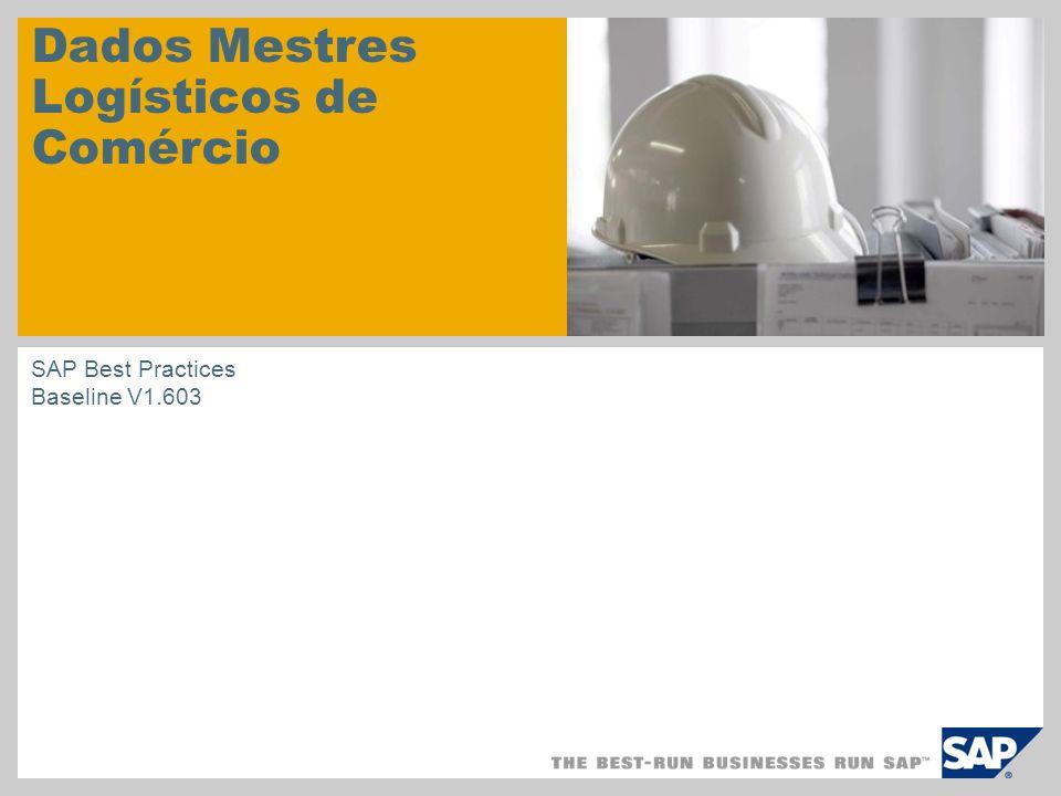 Dados Mestres Logísticos de Comércio SAP Best Practices Baseline V1.603