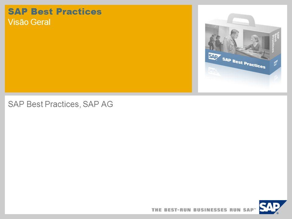 SAP Best Practices Visão Geral SAP Best Practices, SAP AG