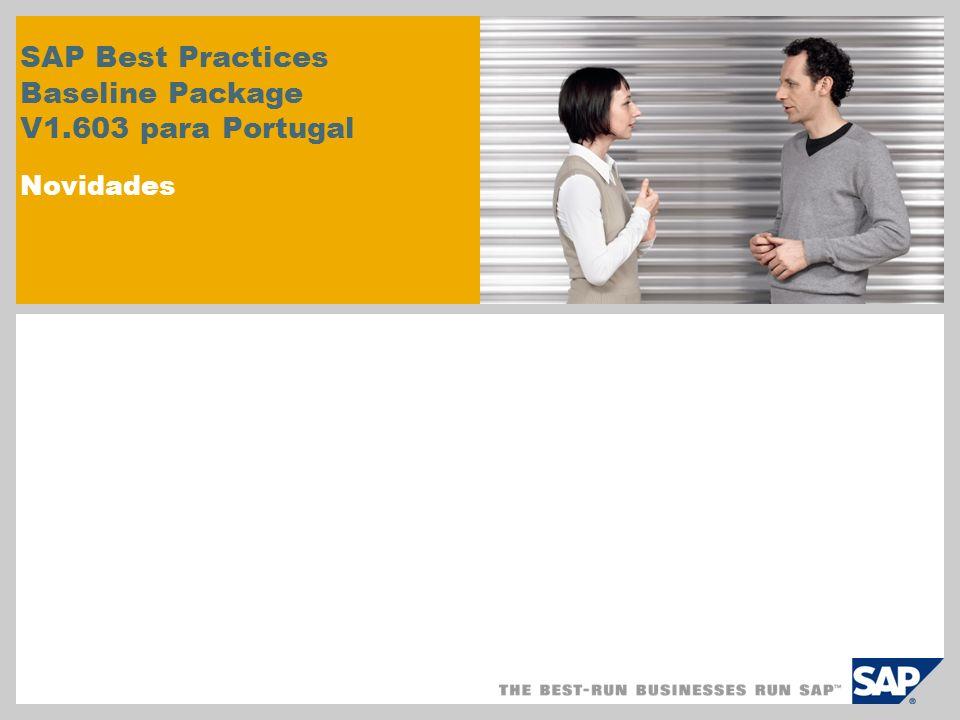 SAP Best Practices Baseline Package V1.603 para Portugal Novidades