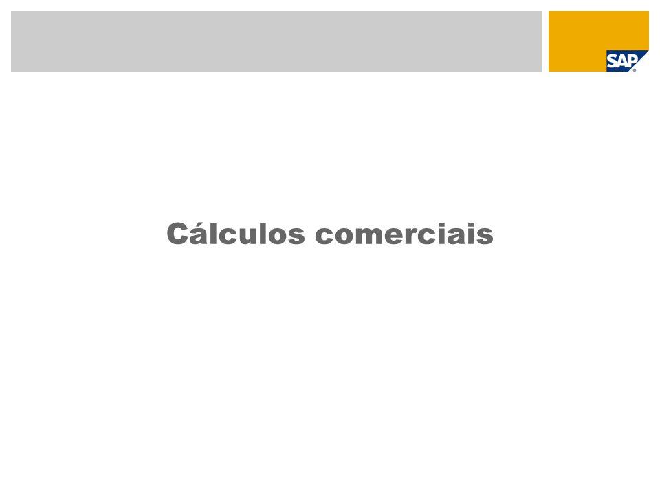 Determinação do preço Bases da determinação do preço Condições de determinação do cálculo de compra/venda, esquemas de cálculo Cálculo de um artigo individual Cálculo de um artigo genérico Cálculo de um set de vendas