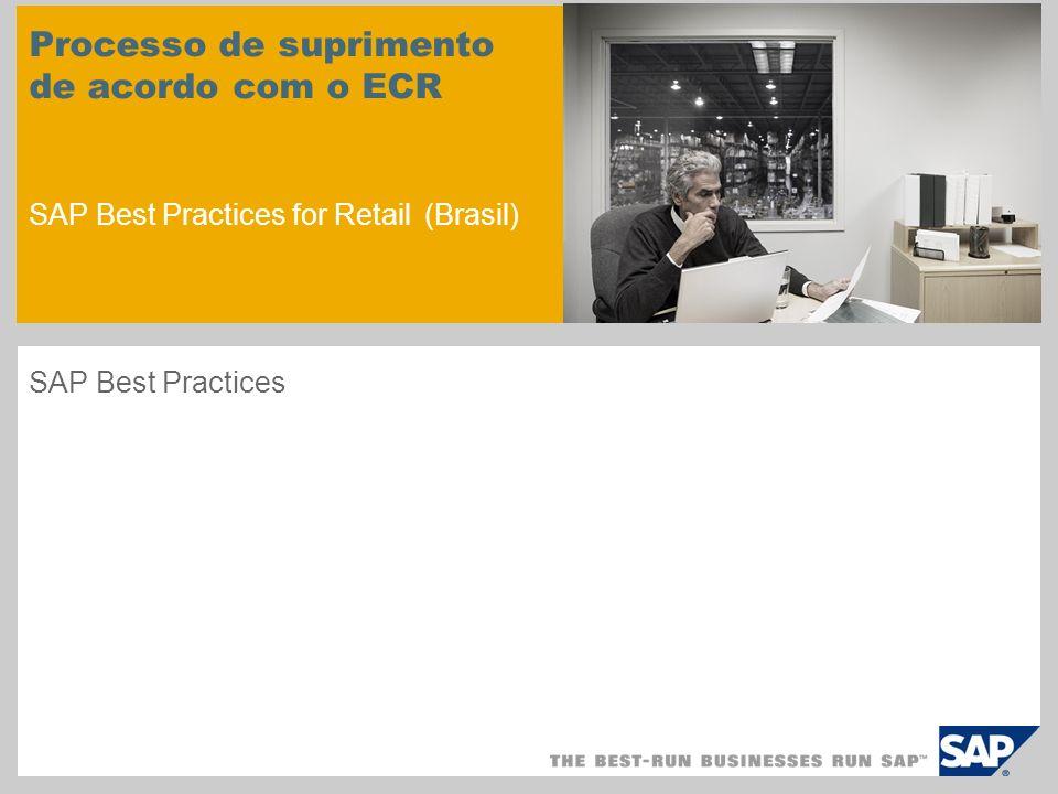 Processo de suprimento de acordo com o ECR SAP Best Practices for Retail (Brasil) SAP Best Practices