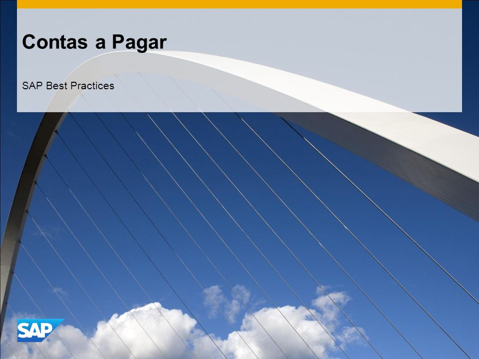 Contas a Pagar SAP Best Practices