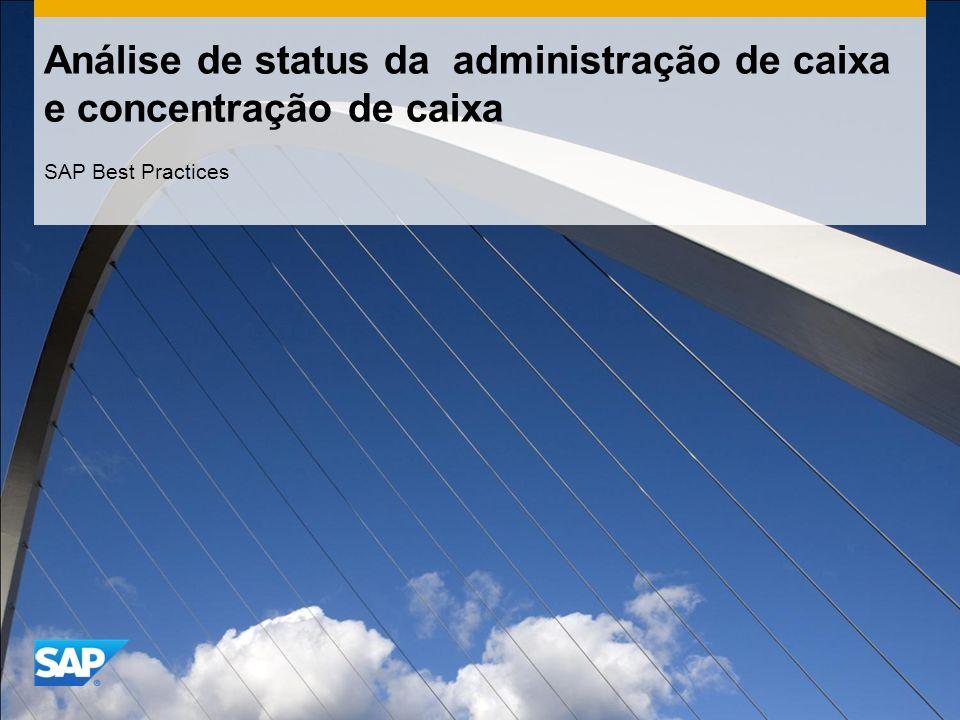 Análise de status da administração de caixa e concentração de caixa SAP Best Practices