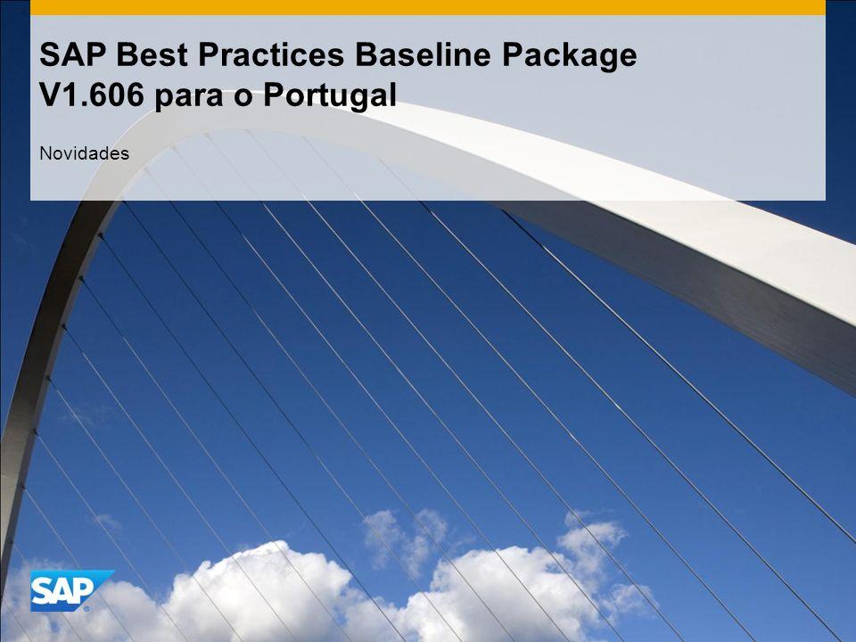 SAP Best Practices Baseline Package V1.606 para o Portugal Novidades