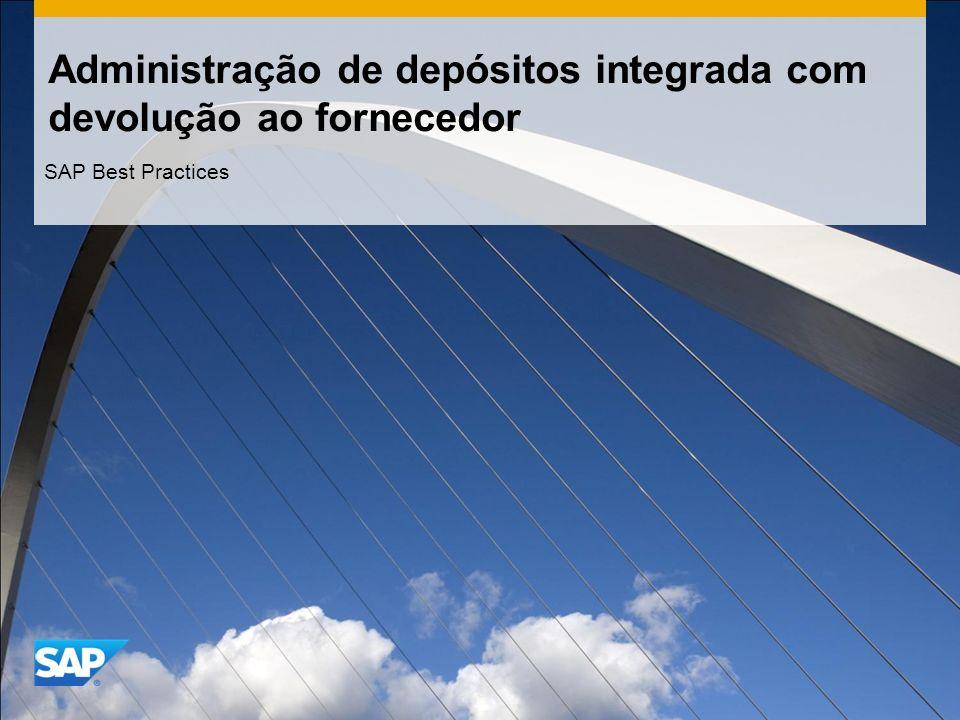 Administração de depósitos integrada com devolução ao fornecedor SAP Best Practices