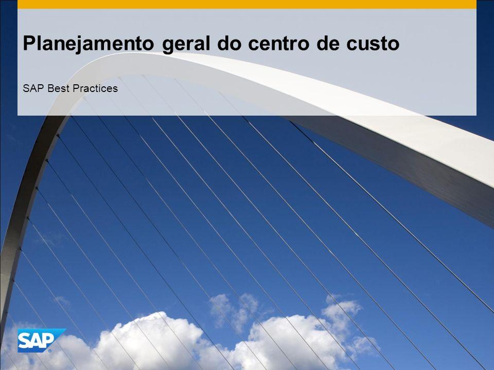 Planejamento geral do centro de custo SAP Best Practices