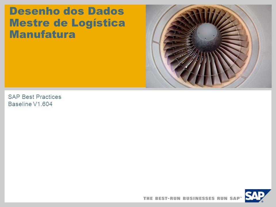 Desenho dos Dados Mestre de Logística Manufatura SAP Best Practices Baseline V1.604