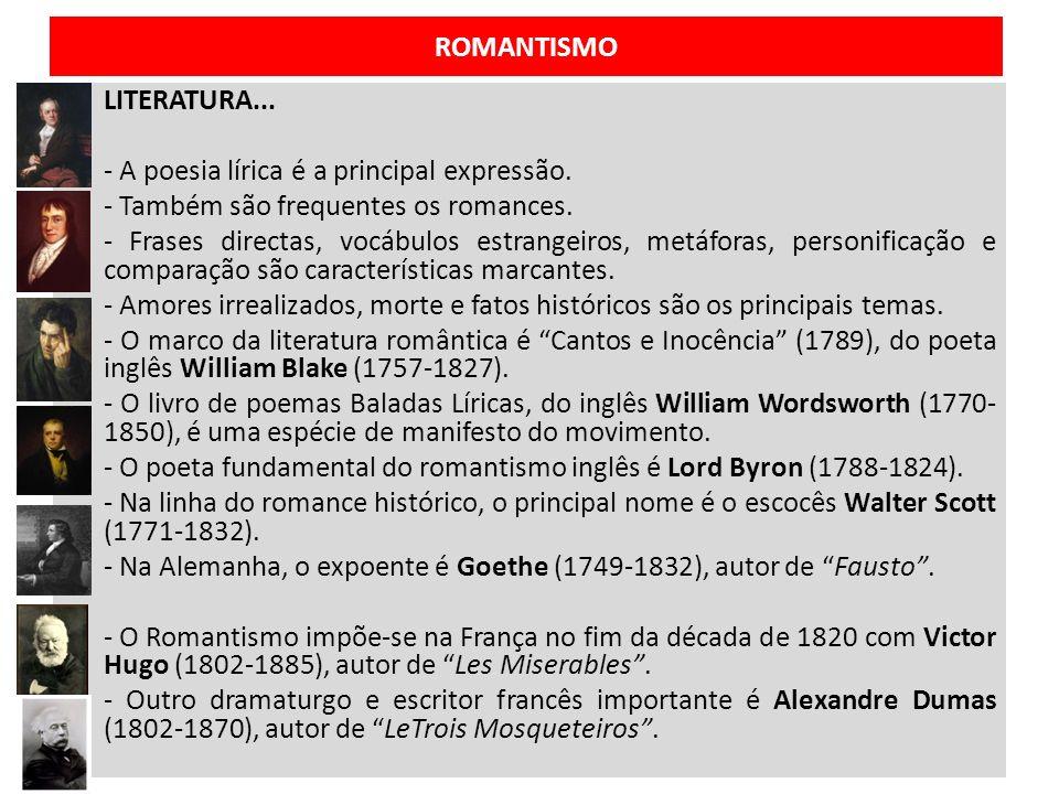ROMANTISMO MÚSICA… - Os compositores buscam liberdade de expressão.