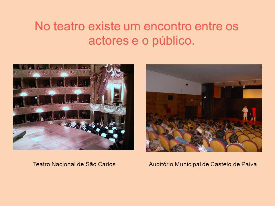 No teatro existe um encontro entre os actores e o público. Teatro Nacional de São CarlosAuditório Municipal de Castelo de Paiva