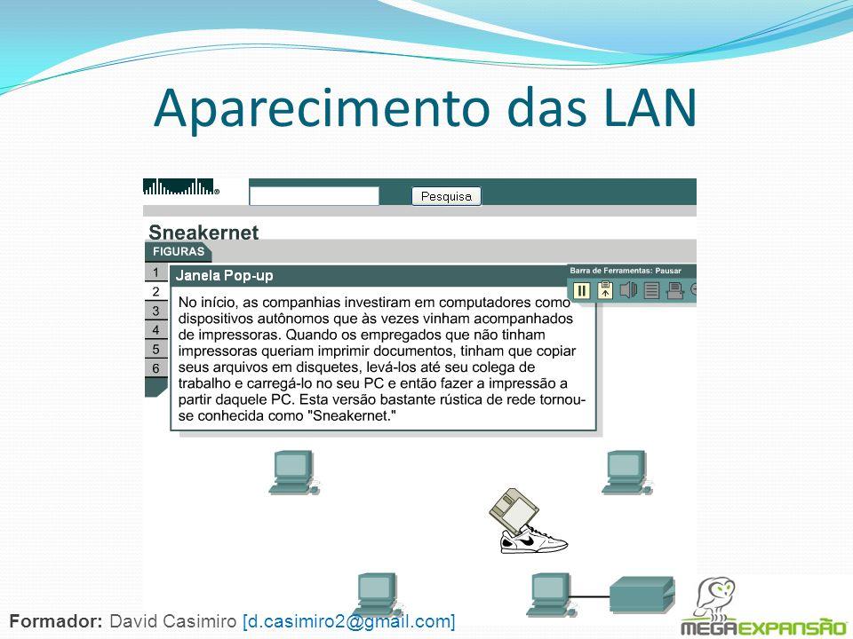 Aparecimento das LAN Formador: David Casimiro [d.casimiro2@gmail.com]