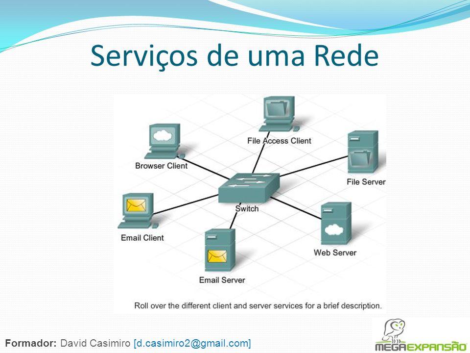 Serviços de uma Rede Formador: David Casimiro [d.casimiro2@gmail.com]