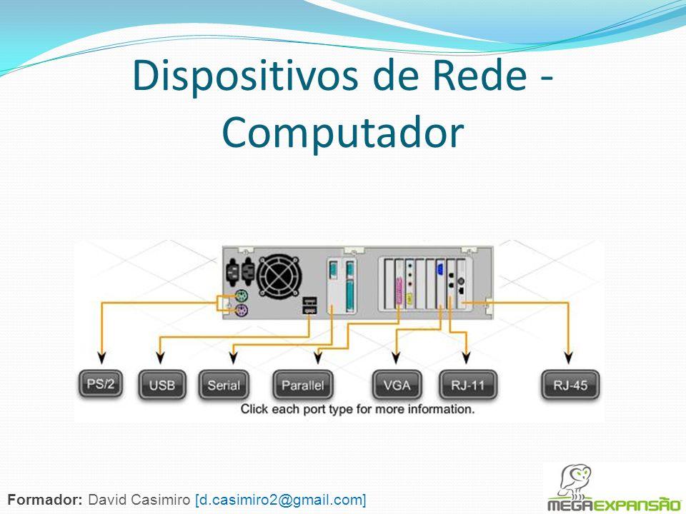 Dispositivos de Rede - Computador Formador: David Casimiro [d.casimiro2@gmail.com]