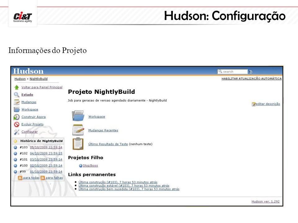 Hudson: Configuração Informações do Projeto