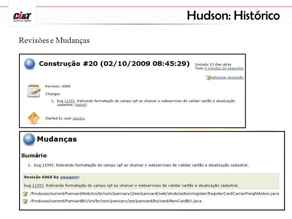 Hudson: Histórico Revisões e Mudanças