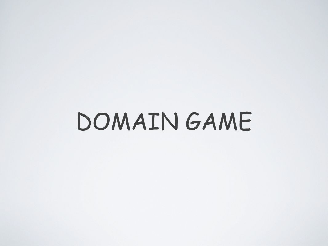 O QUE É? JOGO CRIADO COM BASE NO DOMAIN DRIVEN DEVELOPMENT