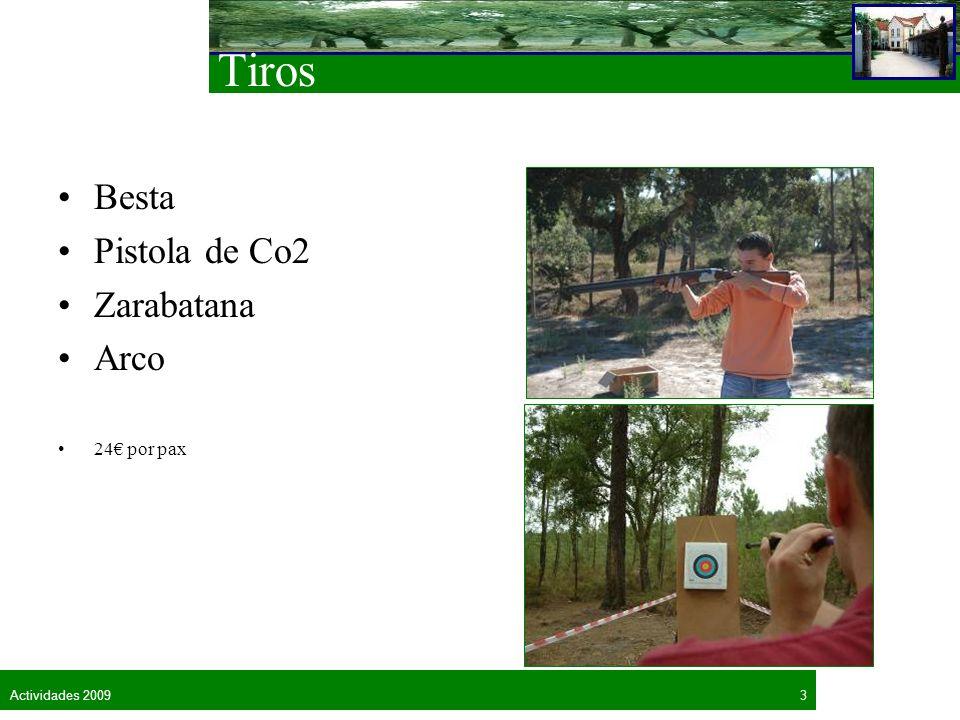 3Actividades 2009 Tiros Besta Pistola de Co2 Zarabatana Arco 24 por pax