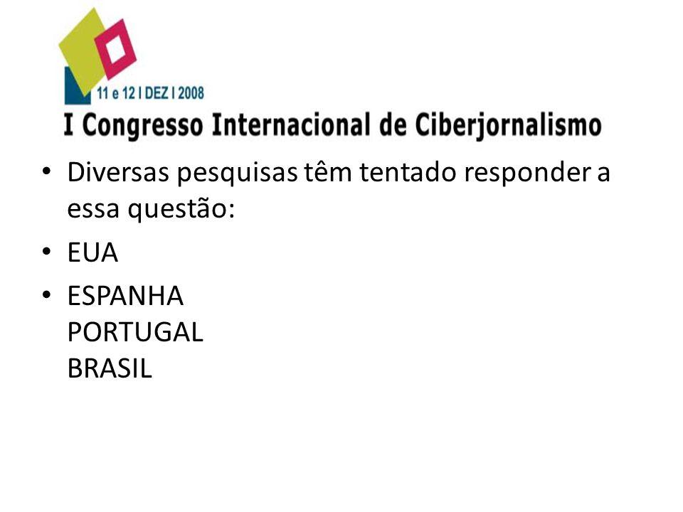 Diversas pesquisas têm tentado responder a essa questão: EUA ESPANHA PORTUGAL BRASIL