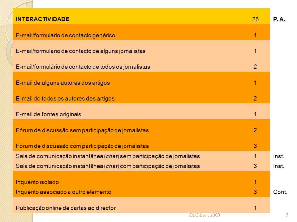 INTERACTIVIDADE (cont.)25 P.A.