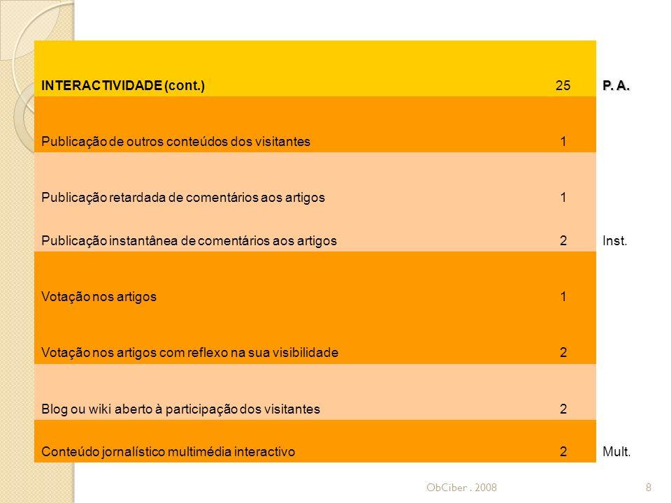 INTERACTIVIDADE (cont.)25 P. A.