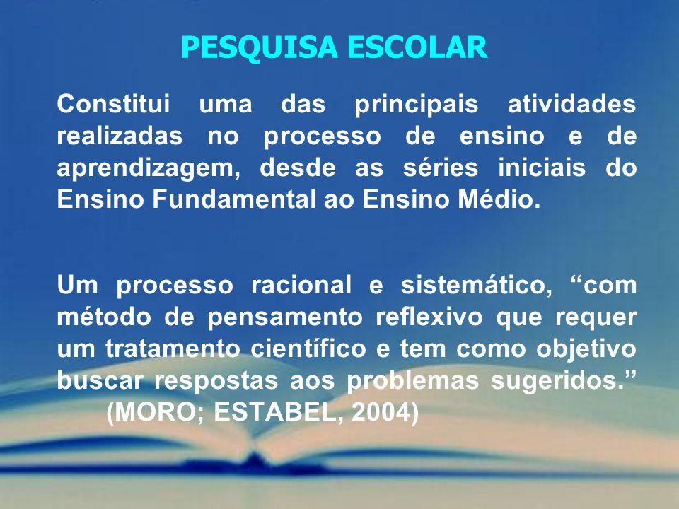 Constitui uma das principais atividades realizadas no processo de ensino e de aprendizagem, desde as séries iniciais do Ensino Fundamental ao Ensino M