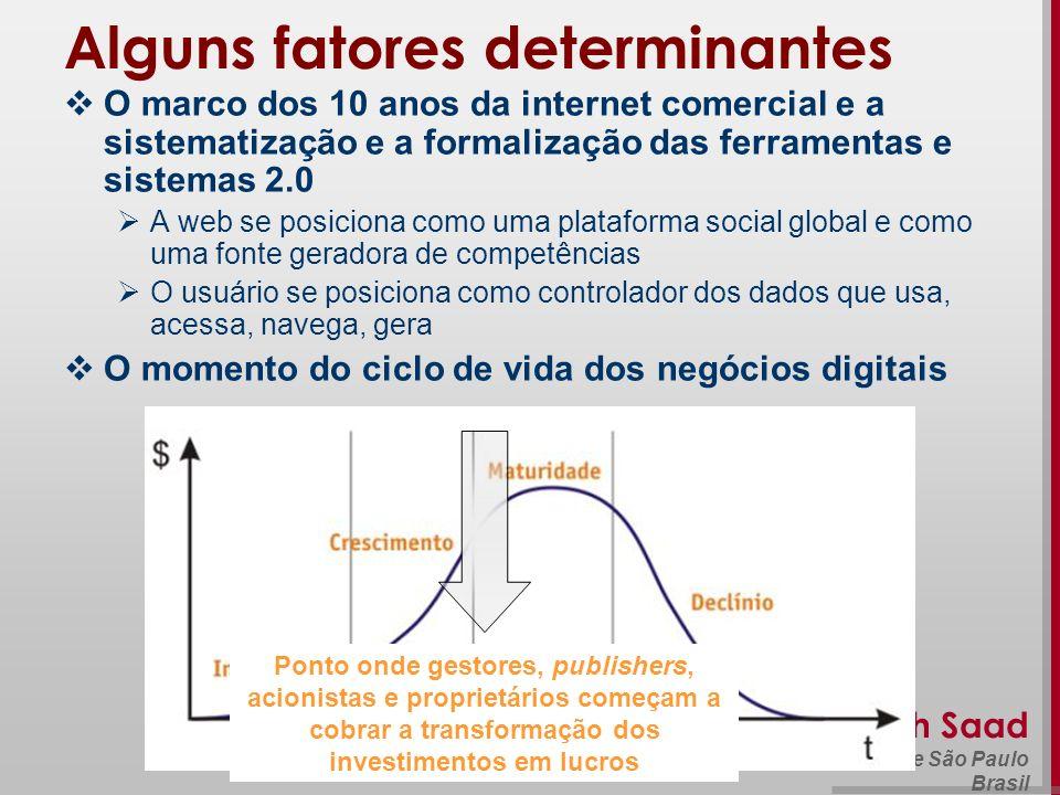 Beth Saad Universidade de São Paulo Brasil Alguns fatores determinantes O marco dos 10 anos da internet comercial e a sistematização e a formalização